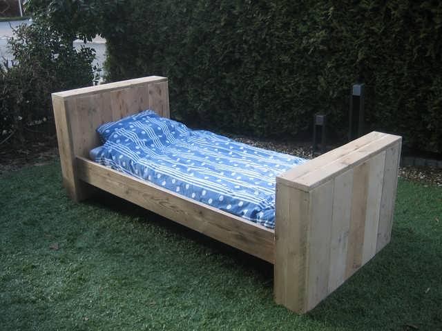 steigerhout Bed Ditmar