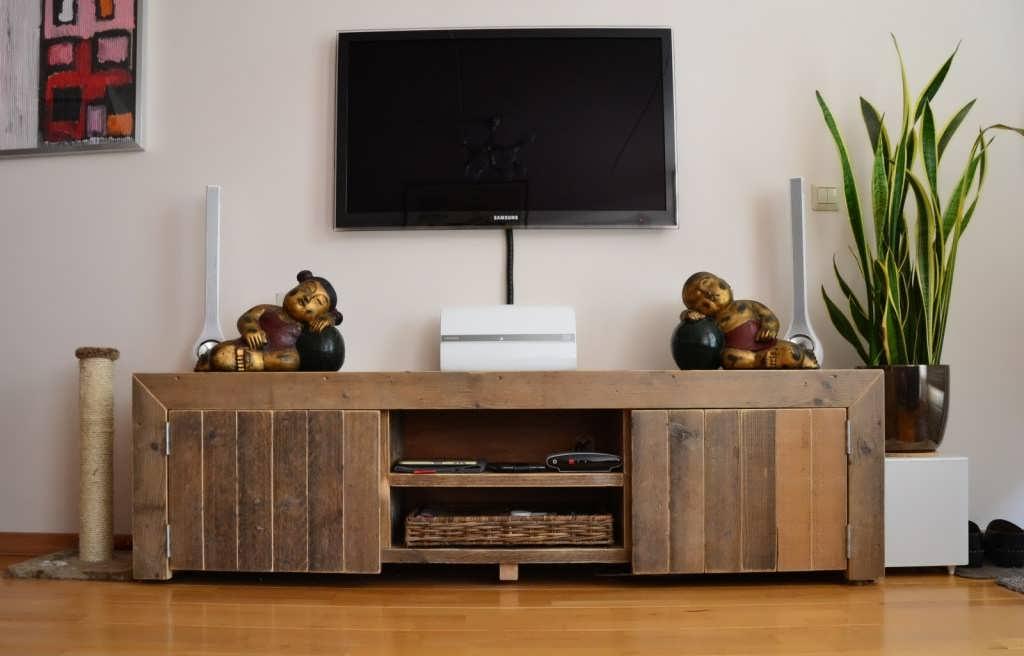 Wooninspiratie steigerhout irina touw for Steigerhout tv meubel maken