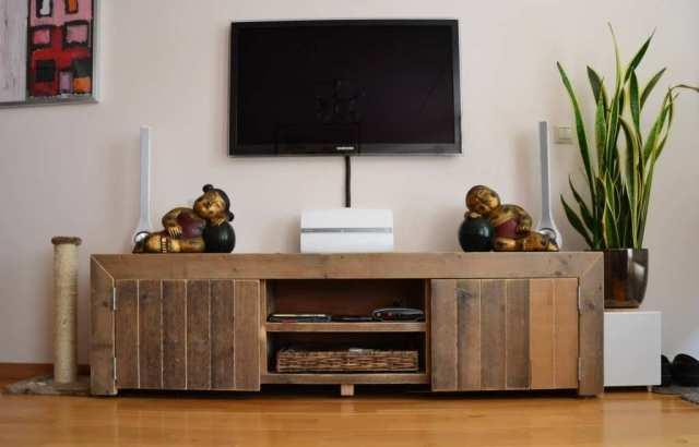TV-meubel Raphael 180x43x50cm 2x schap in het midden